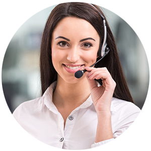 Woman speaking on the phone using a headset